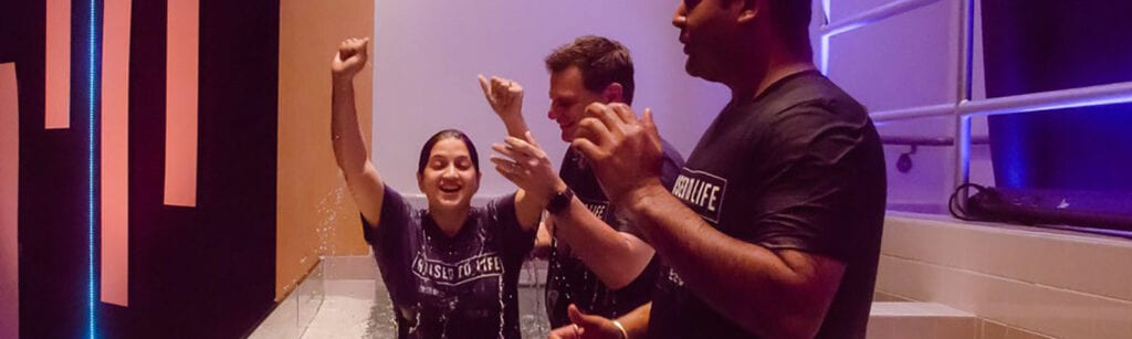 Baptism at The Point Church in San Jose